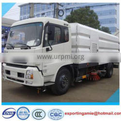 Dongfeng Tianjin Euro3 street high pressure cleaning sweeper truck