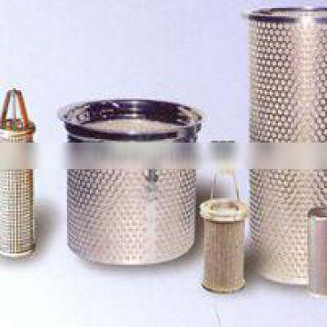 Industrial 25um Stainless Steel Basket Filter