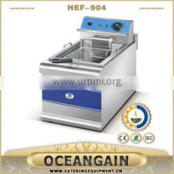 HEF-904 2015 CE Approved 12.5+12.5L electric deep fryer for catering