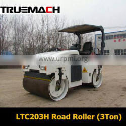 3TON Ride-on Double Drum Hydraulic Tandem Vibratory Road Roller