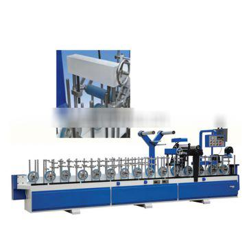Woodworking PVC cold glue profile wrapping machine_Amachine factory