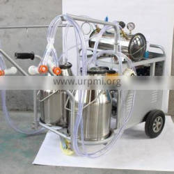 dual power of electric and gasoline motor milking machines for cows and goats