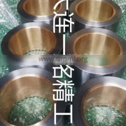 Oil distribution sleeve / drilling machine with oil sleeve 45 steel casting / sintered tin bronze Bimetal sleeve metallurgical combination