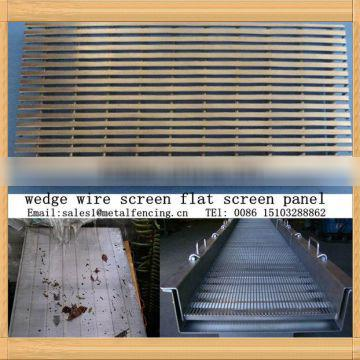 Seperating liquid / solid wedge wire screen flat screen panel