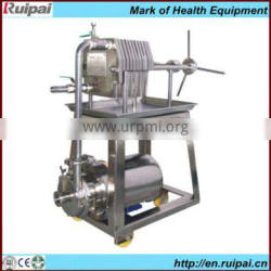 Sintered metal plate and frame press filter with CE & ISO9001