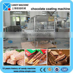 Easy operated confectionery machine for chocolate coating line