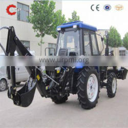 Map554 4WD mini tractor with front end loader and backhoe
