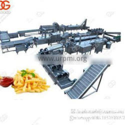Factory Price Automatic Fresh Frozen Potatoes Frying Production Line Potato Chips Making Machine French Fries Equipment