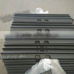 Top quality warranty 2000h excavator track pad EX100 EX120 ZX120 track shoe,size 10*900mm