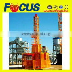 Reliable performance construction hoist,rack and pinion construction hoist