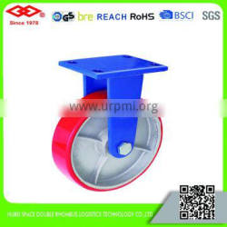 150mm-200mm Super heavy duty polyurethane caster with cast iron center