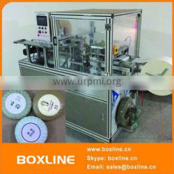 Automatic round soap pleat wrapping machine