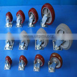 Engineering professional make difference size multi color PU plastic trolley wheel Quality Choice