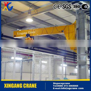 Fixed Column 360 Degree Slewing Jib Crane With Cable Hoist