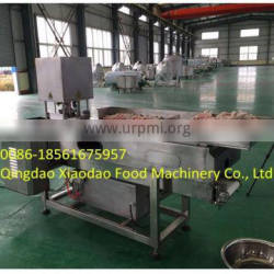 stainless steel chicken feet/paw cutting machine, conveyor and cutting chicken paw 0086-18561675957
