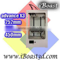 3D Rapid Prototyping Machine, High Precision Large Build Size 3D Printer, 252*252*450mm Print Size!(@X303)