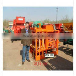 China product automatic hollow cement brick making machine QTJ4-26 hot selling product to earn money at home