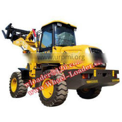 China manufacturer supply portable tractor front wheel loader with low price