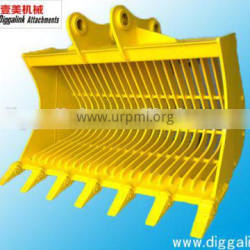 PC200 attachment excavator skeleton buckets with pins and teeth