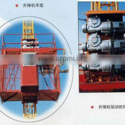 CE,GOST Approved !!! SC100/100 double cages small construction lifts,building construction lift