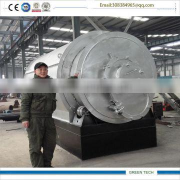 100% pollution -free 2 Ton Mini pyrolysis plant Recycling PP,PE,PS .PVS plastic to diesel Oil