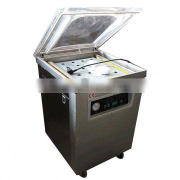 Snack fruits vegetables seafood chicken double chambers vaccum packing machine