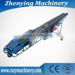 Movable belt conveyor for transporting bags