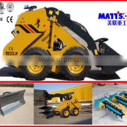 BOBCAT ML525W wheel MODEL compact skid steer loader with 25hp imported kubota diesel engine .0.35M3