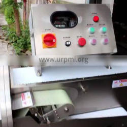Multi-function meat and vegetable cutter with conveyor belt cooked meat beef cutting machine