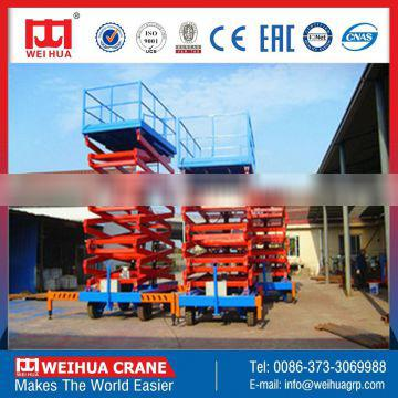 Henan Weihua 300kg Self Propelled Electro-hydraulic Scissor Lifts for Sale