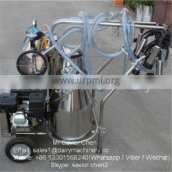 Male Milking Machine With Gasoline Engine in Cow Farm