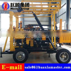XYX-200 Wheel Type mobile water well drilling rig hydraulic rotary drilling machine for sale