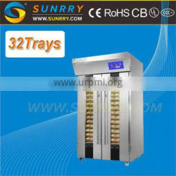 Automatic digital double doors 32 trays french small bread making machine used stainless steel fermentation tanks for sale