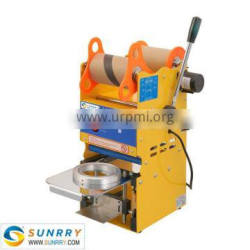 Plastic cup heat sealing machine output 300-500 P/H cup sealer machine 95/75 yogurt cup sealing machine for CE(SY-CPS30B SUNRRY)