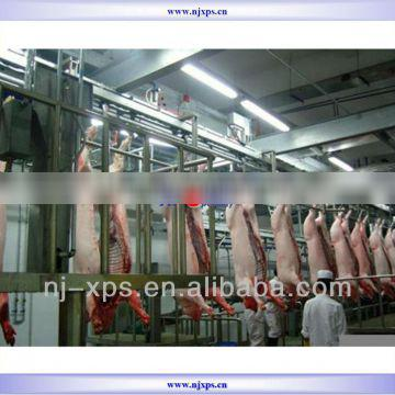 Pig white meat automatic line is used for conveying white meat cutting the breast withdrawing the intestines cutting into halves