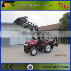 compact 4x4 garden tractor with 4 in 1 bucket loader