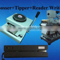 Embossing Machine Tipper MSR606 Reader Writer 3pcs bundle