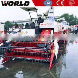Rubber track type rice combine harvester with Hydraulic gearbox