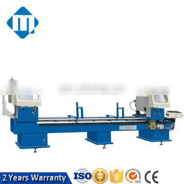 double mitre cutting saw with protect cover Aluminum window machine