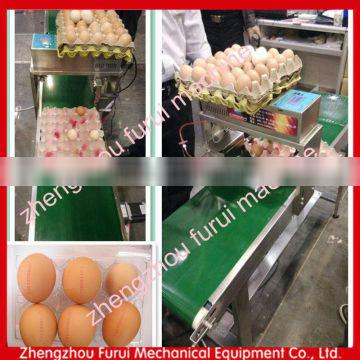 Hot Sale Automatic 1-8 lines date / code / number / logo 5 head egg inkjet printer