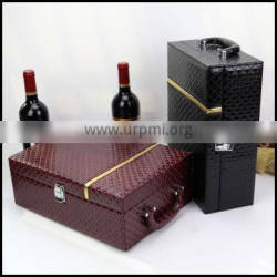 Manufacturers selling leather grade wine packaging bo Wine special wine gift boes are packed two pieces