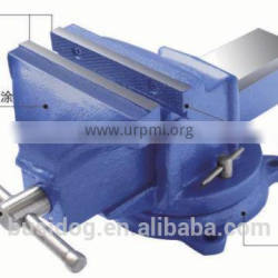 Hot!!! Heavy Duty Fixed Bench Vises With Anvil And Mechanical Vise