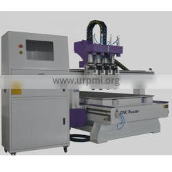 6.0kw*2 3.5kw*2 air cooling spindle multi-heads Pneumatic ATC 1325 Punched cnc router machine for furniture wood