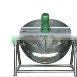 Steaming jacketed kettle