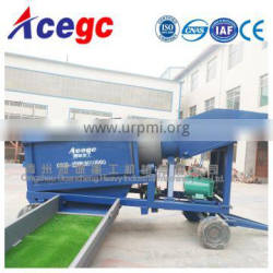 Mini mobile trommel screen gold washing and processing machine