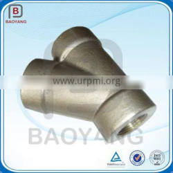 Customized Made Steel Forging 45 Degree Y Branch Lateral Pipe Fitting Tee