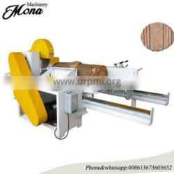 Double disc sliding table saw machine / wood cutting machine for log cutting