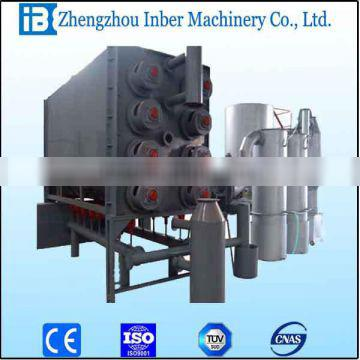 100kg/h continuous carbonization stove with filting gasifier stove