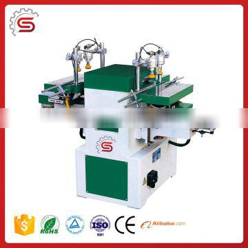 Horizontal and two-spindle mortising machine with easily operation