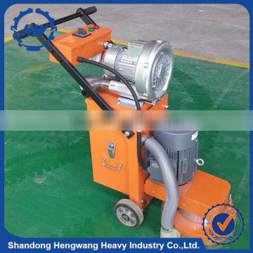 Electric concrete grinding machine for road construction
